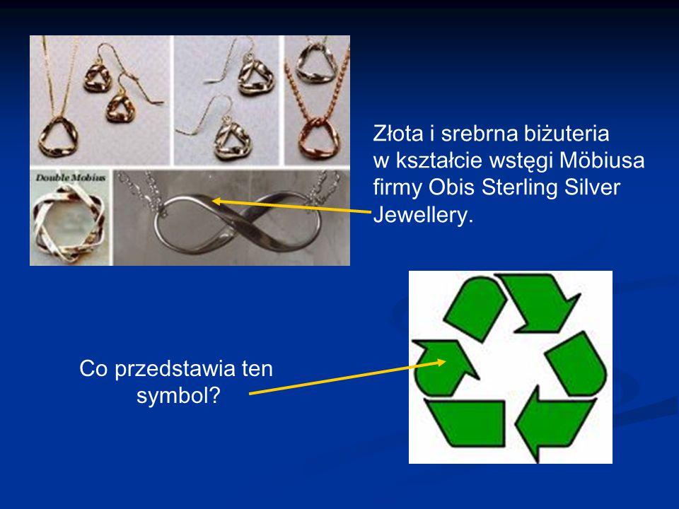 Złota i srebrna biżuteria w kształcie wstęgi Möbiusa firmy Obis Sterling Silver Jewellery.