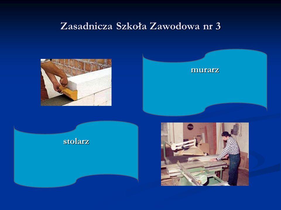 Zasadnicza Szkoła Zawodowa nr 3 stolarz murarz