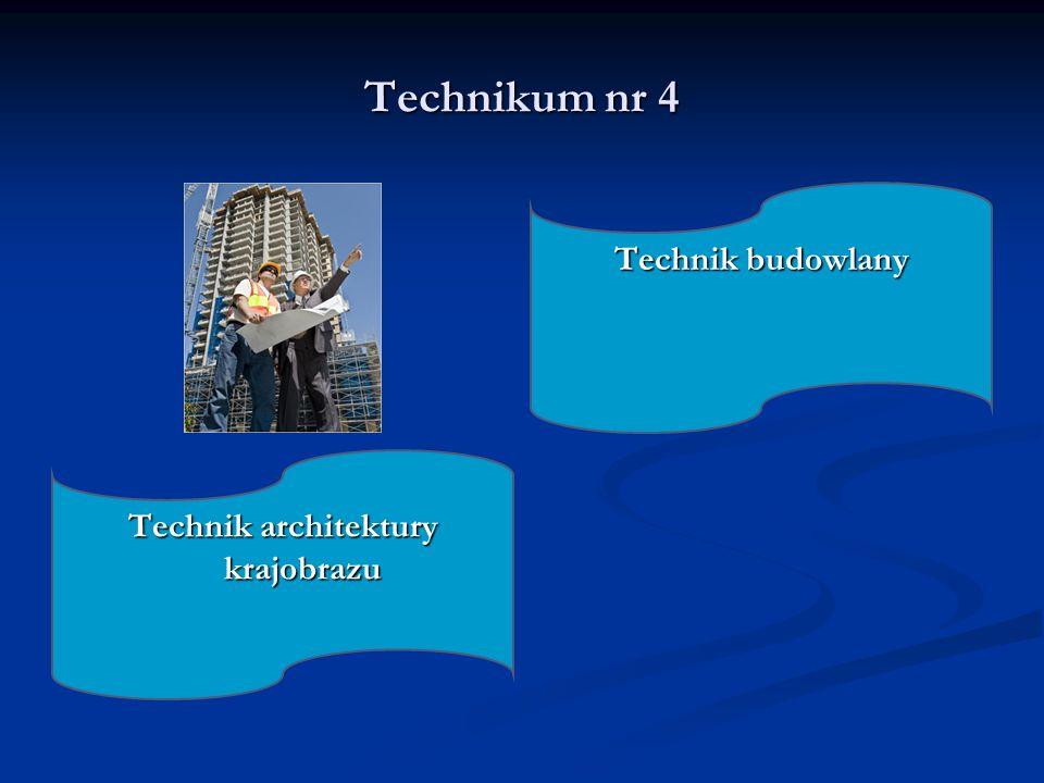 Technikum nr 4 Technik budowlany Technik architektury krajobrazu