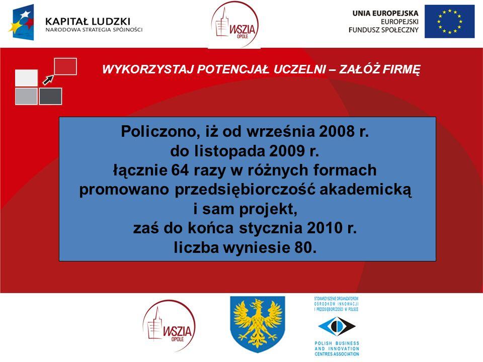 Policzono, iż od września 2008 r. do listopada 2009 r.