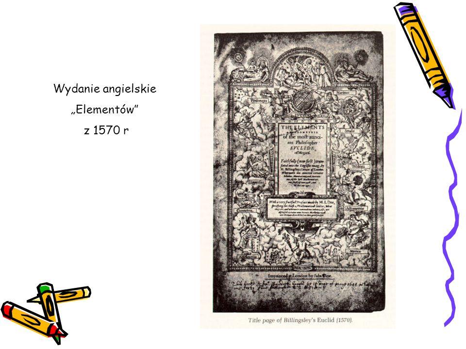 Wydanie angielskie Elementów z 1570 r