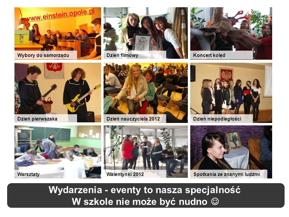 Wydarzenia - eventy to nasza specjalność W szkole nie może być nudno Dzień nauczyciela 2012Dzień pierwszakaDzień niepodległości WarsztatyWalentynki 20