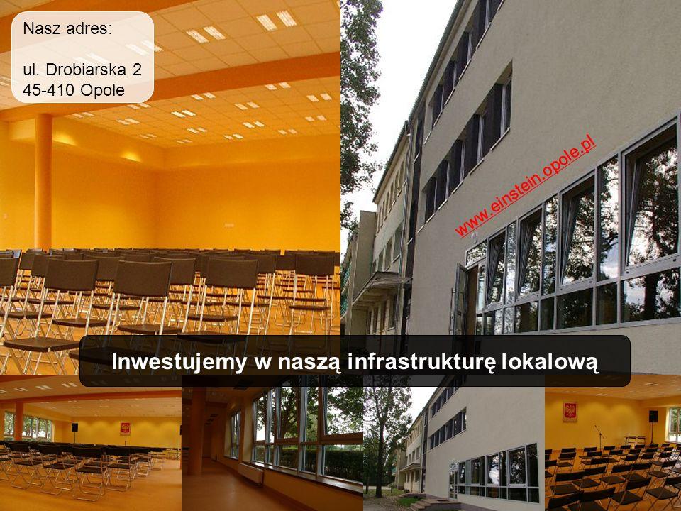 Inwestujemy w naszą infrastrukturę lokalową www.einstein.opole.pl Nasz adres: ul. Drobiarska 2 45-410 Opole