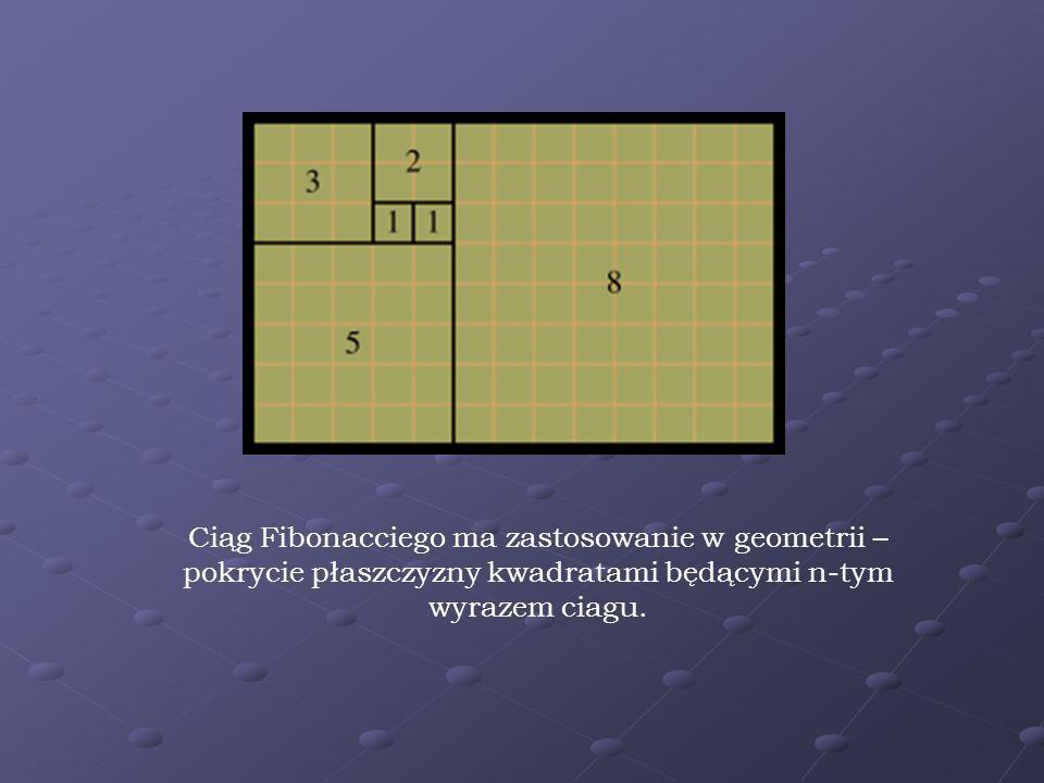 Ciąg Fibonaciego należy do ulubionych ciągów spotykanych w przyrodzie – można go odnaleźć w wielu jej aspektach – zarówno w kształtach fizycznych struktur, jak i w przebiegu zmian w strukturach dynamicznych.