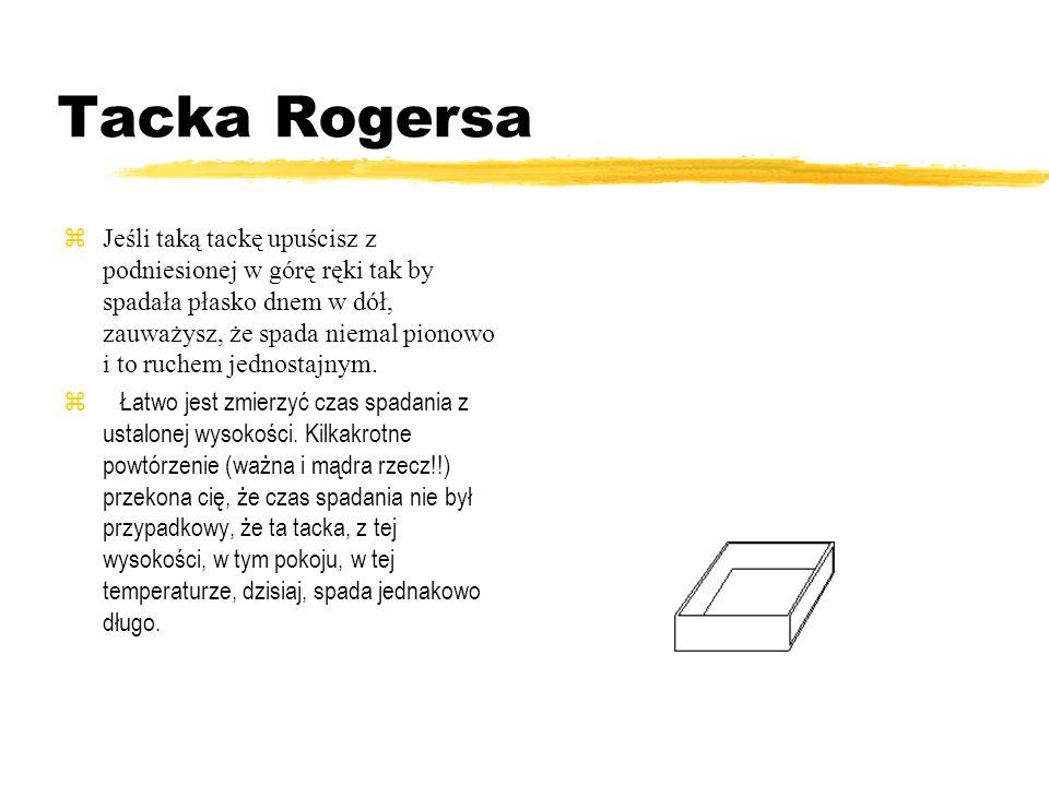 Tacka Rogersa Profesor Rogers proponował swoim studentom bardzo proste i pouczające doświadczenie. Z kartki kratkowanego papieru wytnij prostokąt o ro
