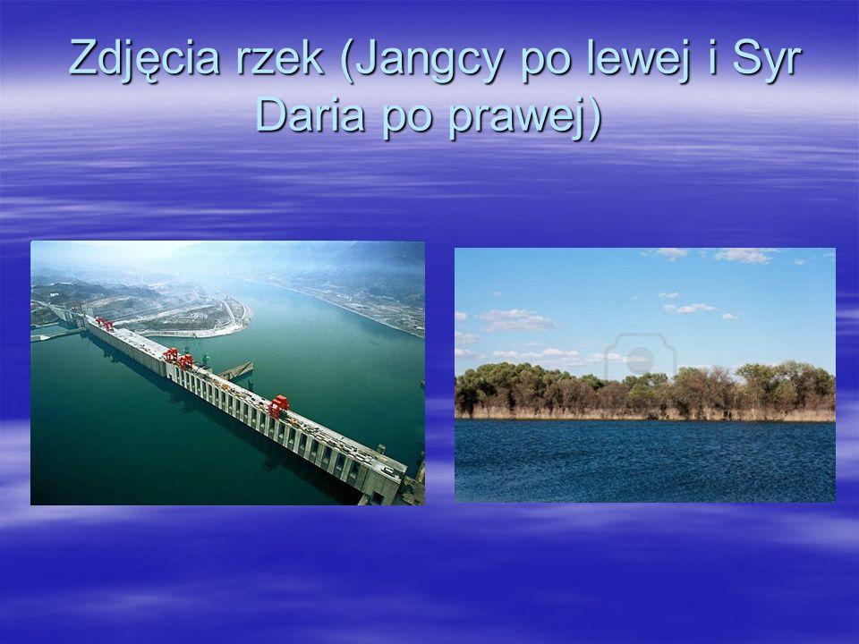 Zdjęcia rzek (Jangcy po lewej i Syr Daria po prawej) Zdjęcia rzek (Jangcy po lewej i Syr Daria po prawej)