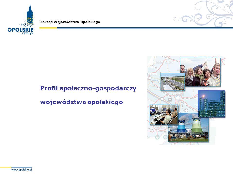 Zarząd Województwa Opolskiego Profil społeczno-gospodarczy województwa opolskiego