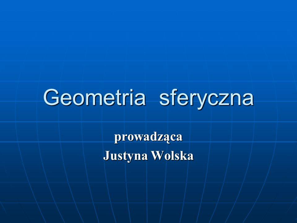Geometria sferyczna prowadząca Justyna Wolska
