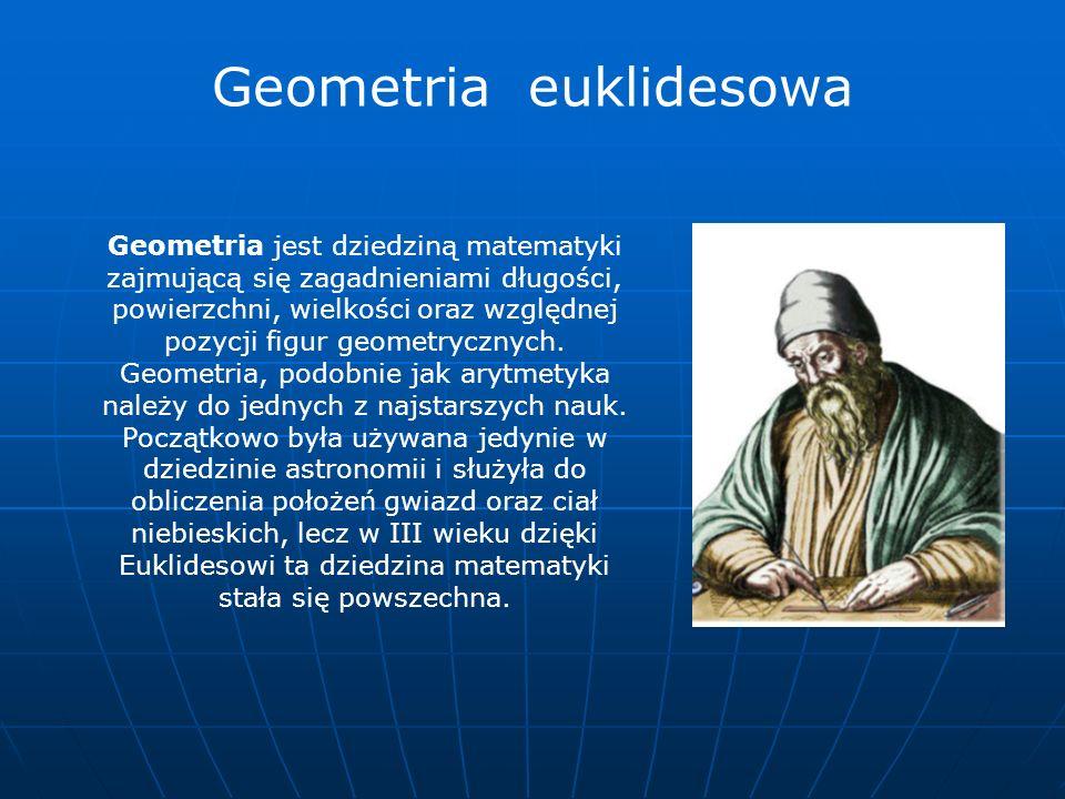 Geometria jest dziedziną matematyki zajmującą się zagadnieniami długości, powierzchni, wielkości oraz względnej pozycji figur geometrycznych. Geometri