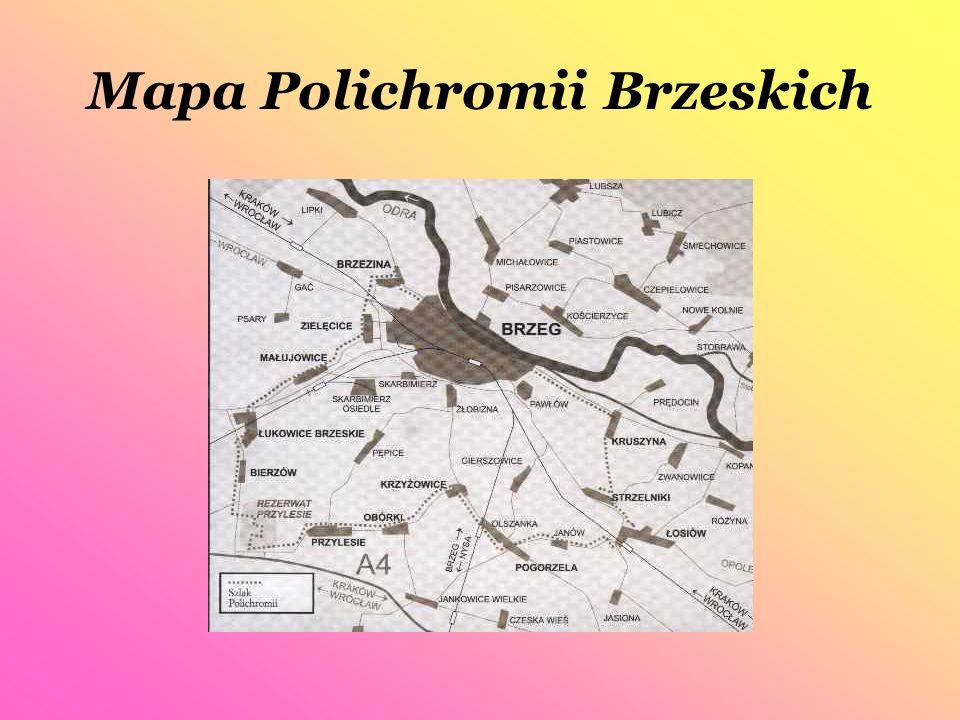 Mapa Polichromii Brzeskich