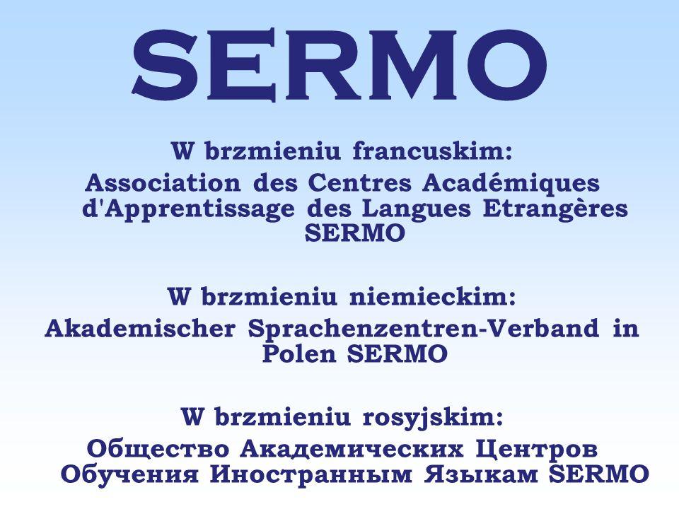 SERMO Obszarem działania Stowarzyszenia jest Rzeczpospolita Polska.