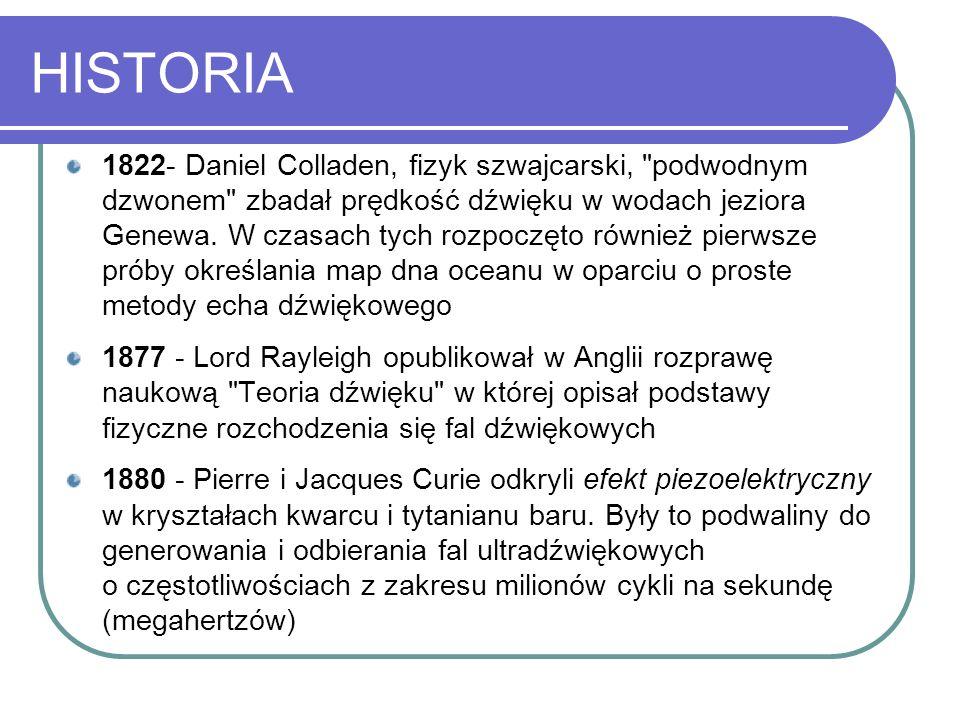 HISTORIA 1822- Daniel Colladen, fizyk szwajcarski,