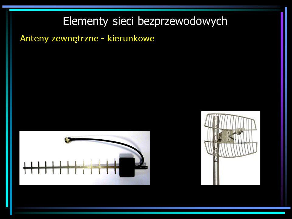 Elementy sieci bezprzewodowych Anteny zewnętrzne - kierunkowe