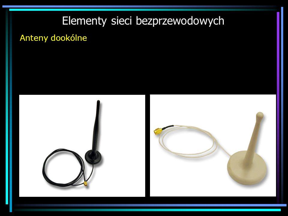 Elementy sieci bezprzewodowych Anteny dookólne