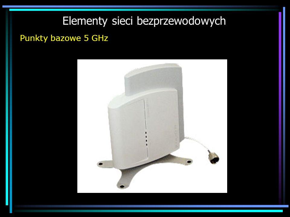 Elementy sieci bezprzewodowych Punkty bazowe 5 GHz