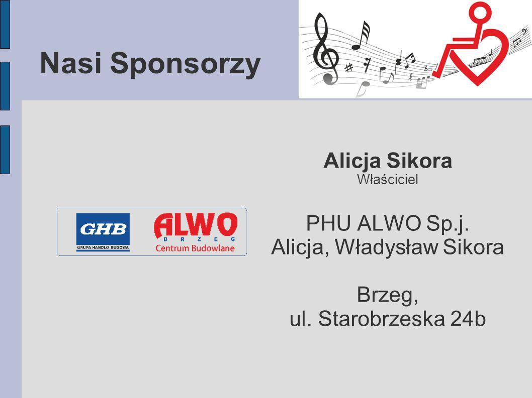 Nasi Sponsorzy Alicja Sikora Właściciel PHU ALWO Sp.j.