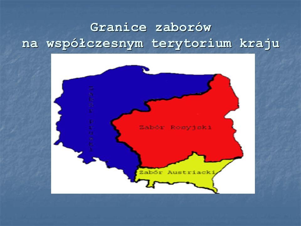 Granice zaborów na współczesnym terytorium kraju