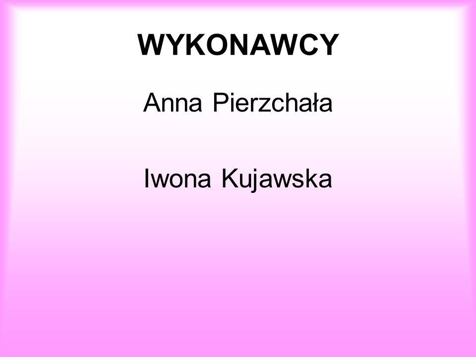 WYKONAWCY Anna Pierzchała Iwona Kujawska