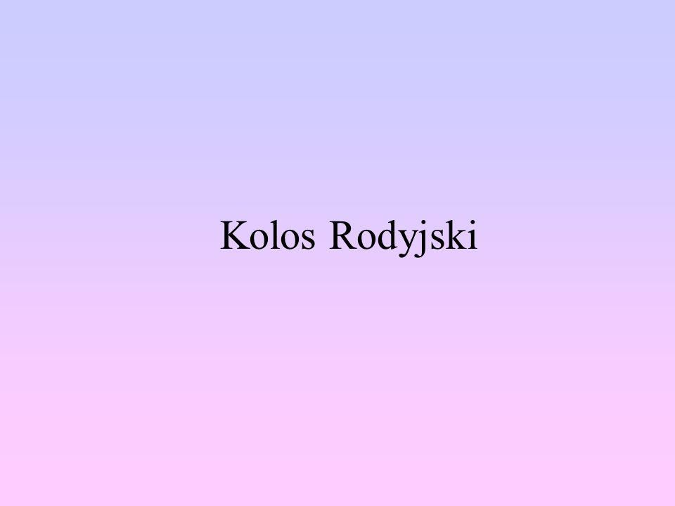 Kolos Rodyjski