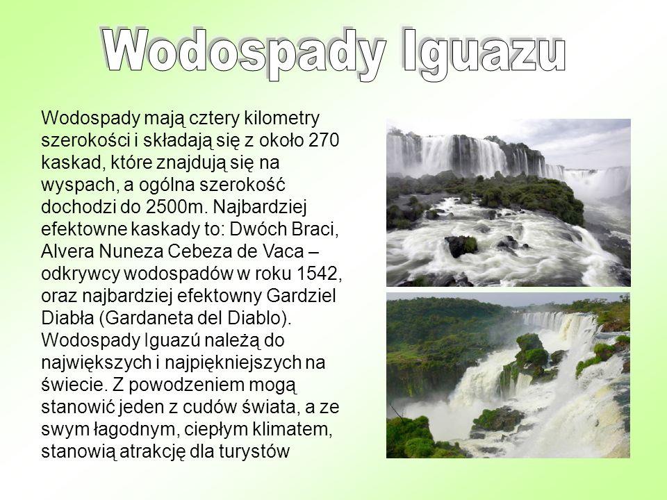 Wodospady mają cztery kilometry szerokości i składają się z około 270 kaskad, które znajdują się na wyspach, a ogólna szerokość dochodzi do 2500m. Naj