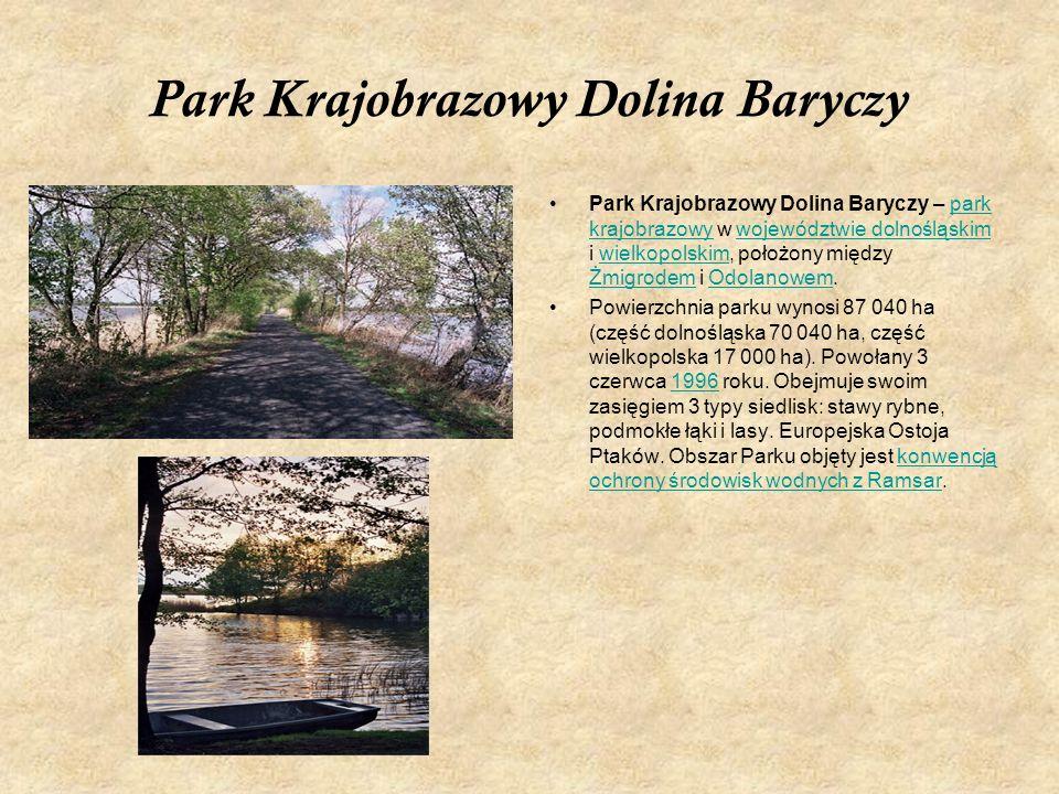 Park Krajobrazowy Dolina Baryczy Park Krajobrazowy Dolina Baryczy – park krajobrazowy w województwie dolnośląskim i wielkopolskim, położony między Żmi