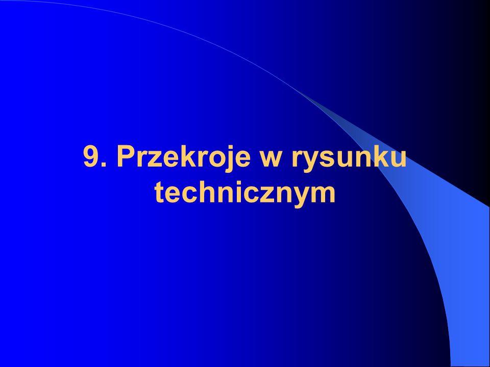9. Przekroje w rysunku technicznym