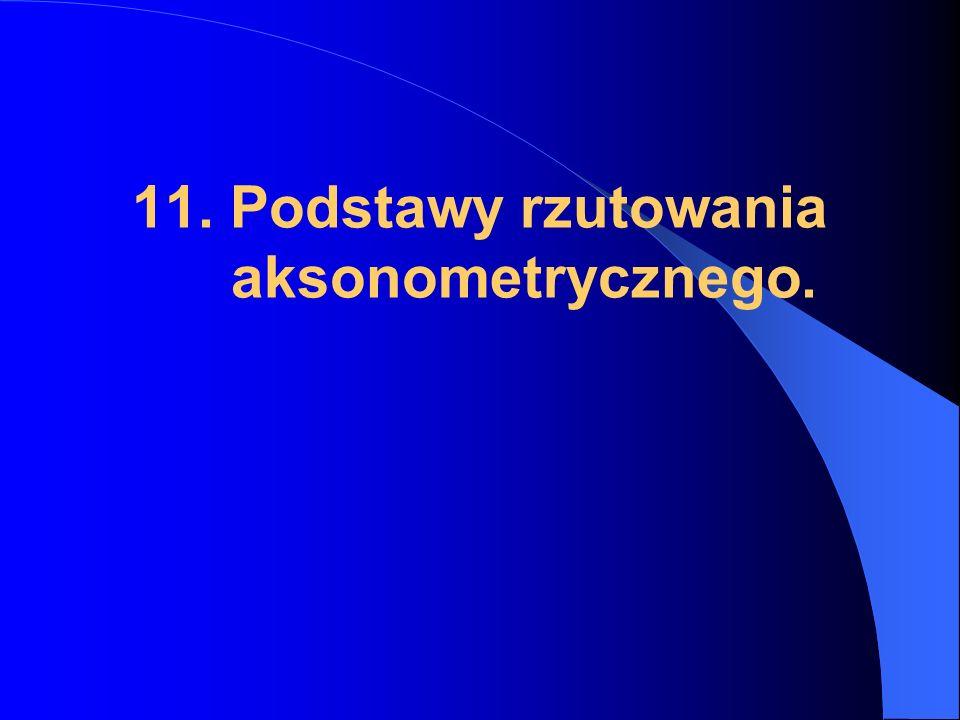11. Podstawy rzutowania aksonometrycznego.