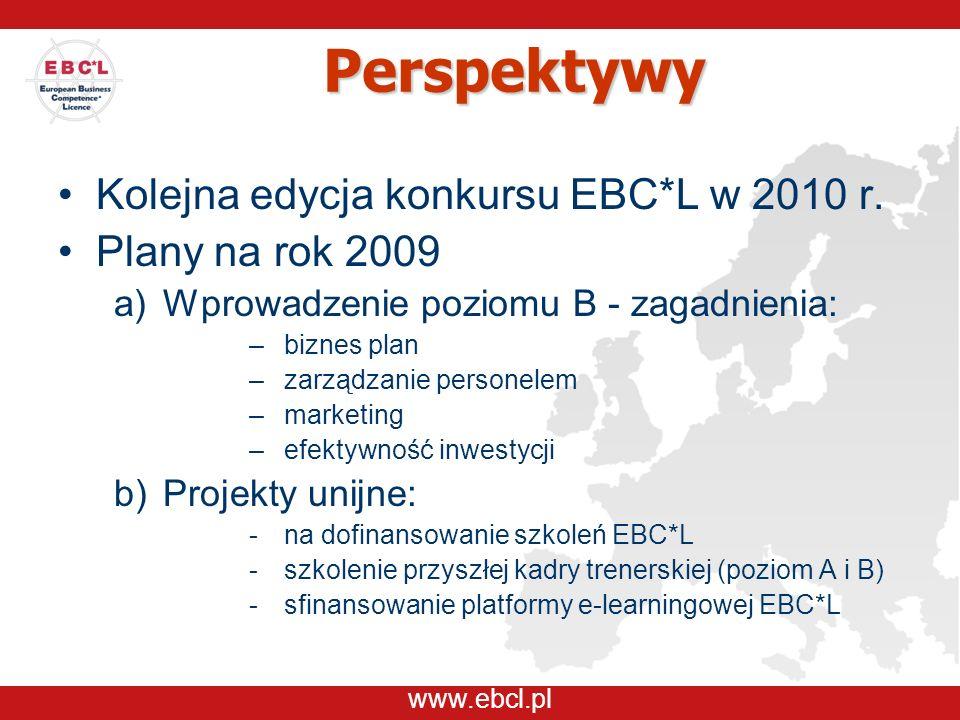 www.ebcl.pl Perspektywy Kolejna edycja konkursu EBC*L w 2010 r.