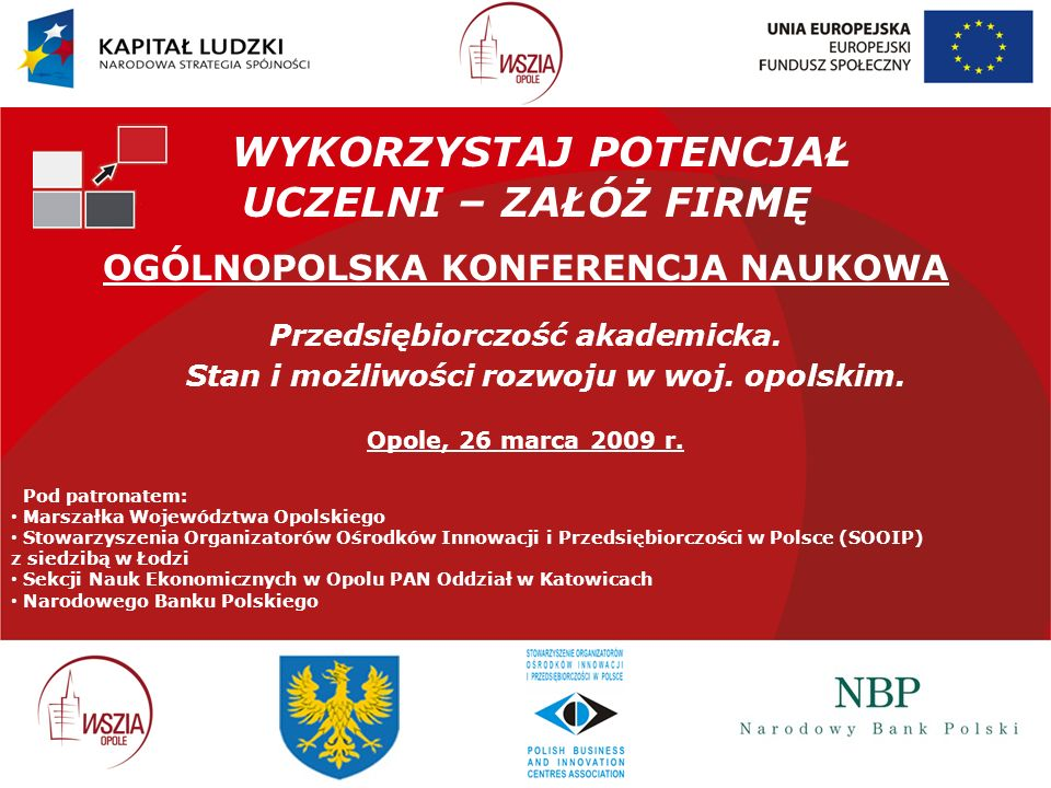 DZIĘKUJĘ BARDZO .Biuro Projektu: Opolskie Centrum Badań Regionalnych przy WSZiA w Opolu ul.