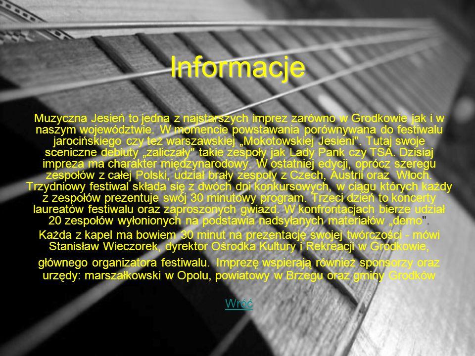 Informacje Muzyczna Jesień to jedna z najstarszych imprez zarówno w Grodkowie jak i w naszym województwie.