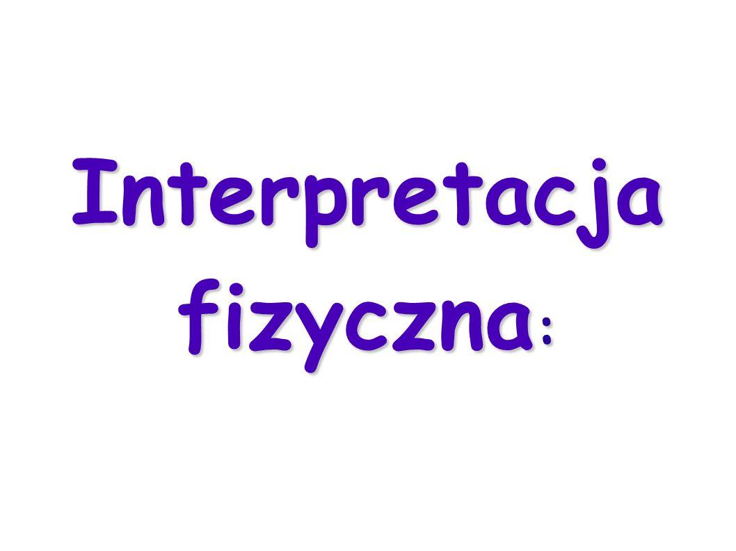 Interpretacja fizyczna :
