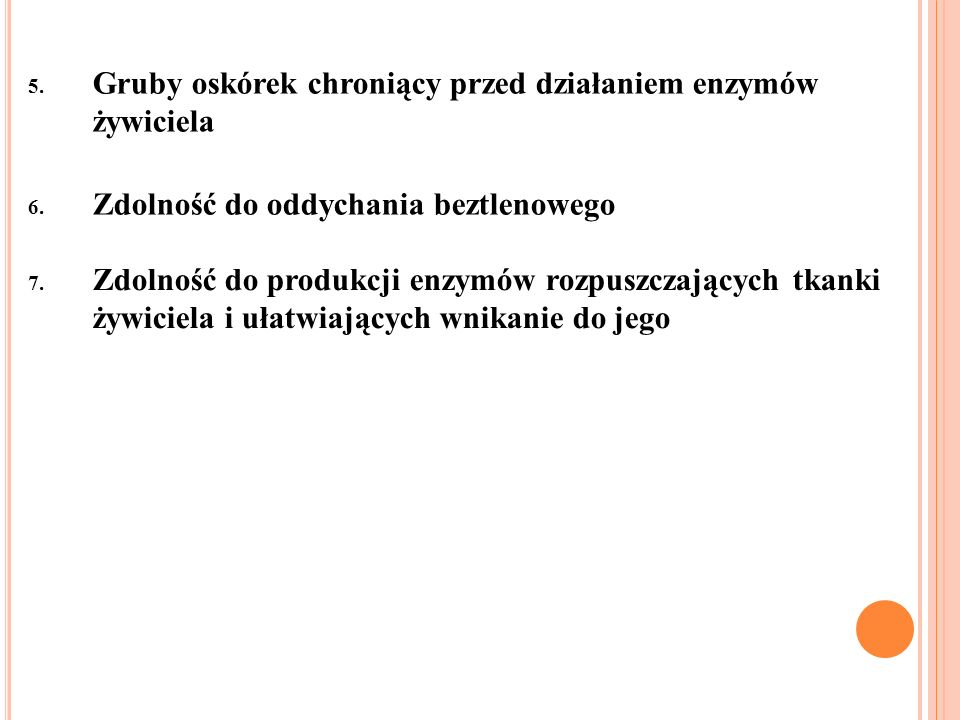 Przygotuj notatkę, która obejmuje: 1.Pojęcie pasożyta 2.Pojęcie żywiciela, z podziałem na żywiciela pośredniego i ostatecznego 3.Cechy pasożytów 4.Podział pasożytów ze względu na czas pasożytowania oraz ilość żywicieli 5.Ogólne przystosowania pasożytów do pasożytniczego trybu życia 6.Sposoby zarażania się pasożytami 7.Sposoby zapobiegania zarażeniu się pasożytami