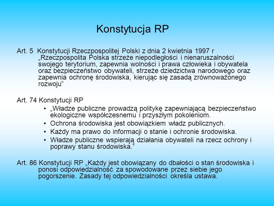 Art. 5 Konstytucji Rzeczpospolitej Polski z dnia 2 kwietnia 1997 r Rzeczpospolita Polska strzeże niepodległości i nienaruszalności swojego terytorium,
