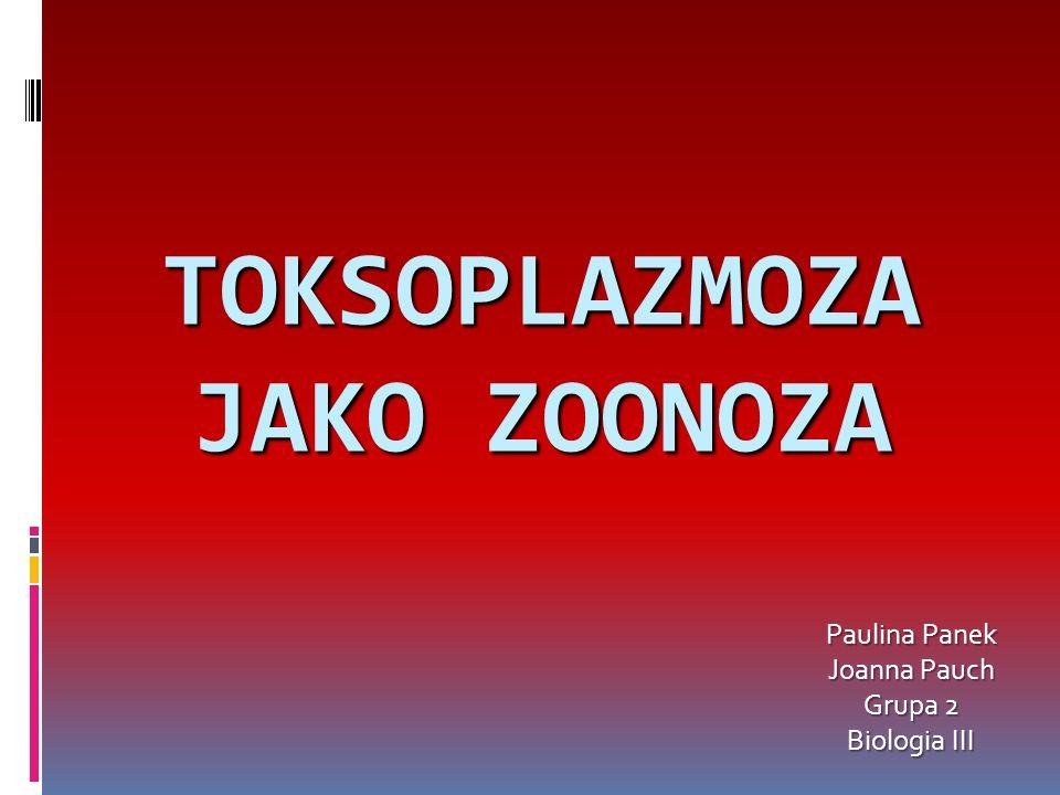 TOKSOPLAZMOZA JAKO ZOONOZA Paulina Panek Joanna Pauch Grupa 2 Biologia III