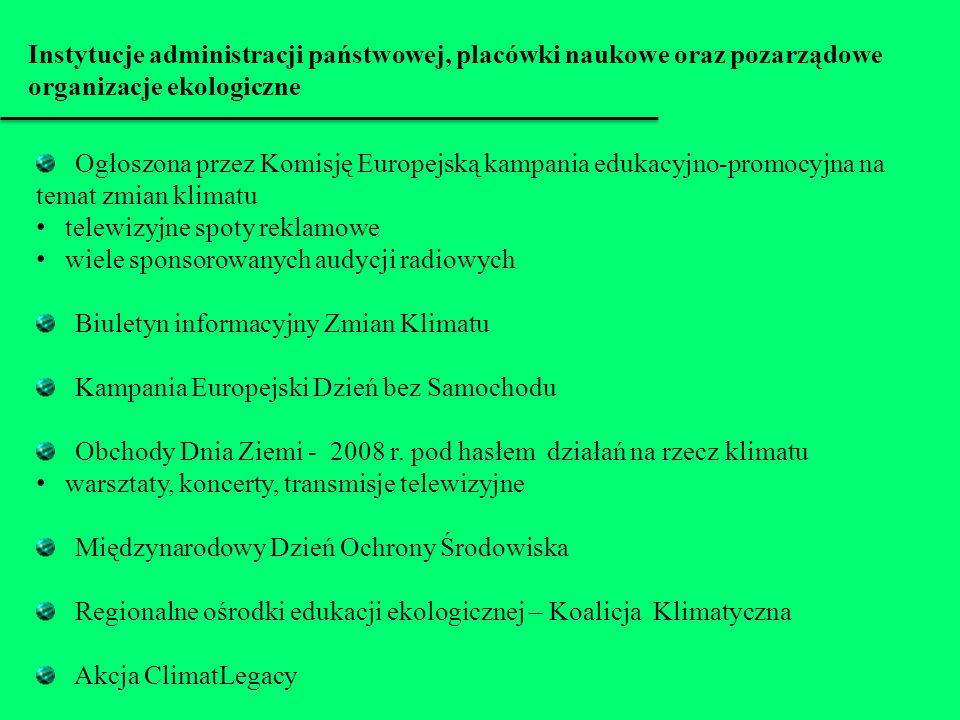 Instytucje administracji państwowej, placówki naukowe oraz pozarządowe organizacje ekologiczne Ogłoszona przez Komisję Europejską kampania edukacyjno-