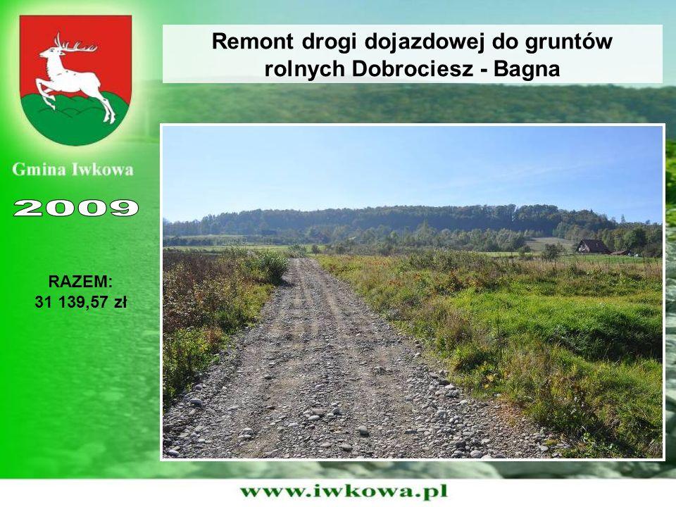 Remont drogi dojazdowej do gruntów rolnych Dobrociesz - Bagna RAZEM: 31 139,57 zł
