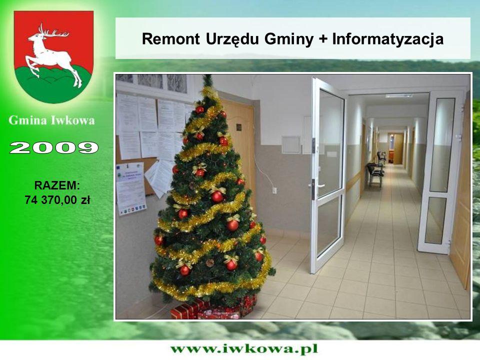 Remont Urzędu Gminy + Informatyzacja RAZEM: 74 370,00 zł