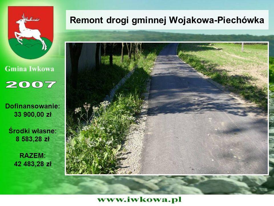 Remont drogi gminnej Połom Mały - Witowice Dofinansowanie: 18 400,00 zł Środki własne: 4 602,90 zł RAZEM: 23 002,90 zł