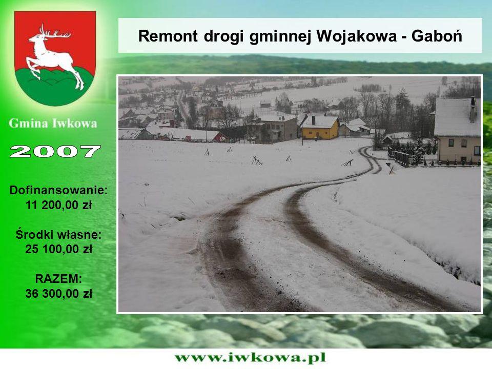 Remont drogi gminnej Kąty - Sławikówka Dofinansowanie: 70 000,00 zł Środki własne: 17 659,20 zł RAZEM: 87 659,20 zł