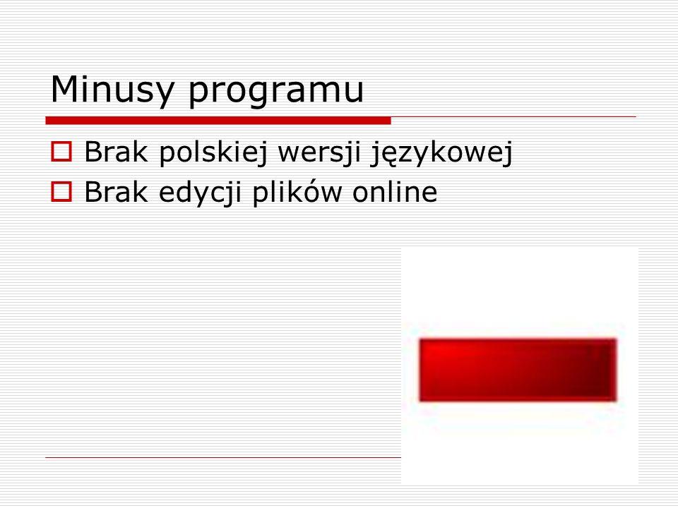 Źródła http://www.dobreprogramy.pl/Jaka-chmure-wybrac-aplikacje-do- przechowywania-plikow-online,Artykul,24822.html Wikipedia.pl www.dropbox.com mricons.com