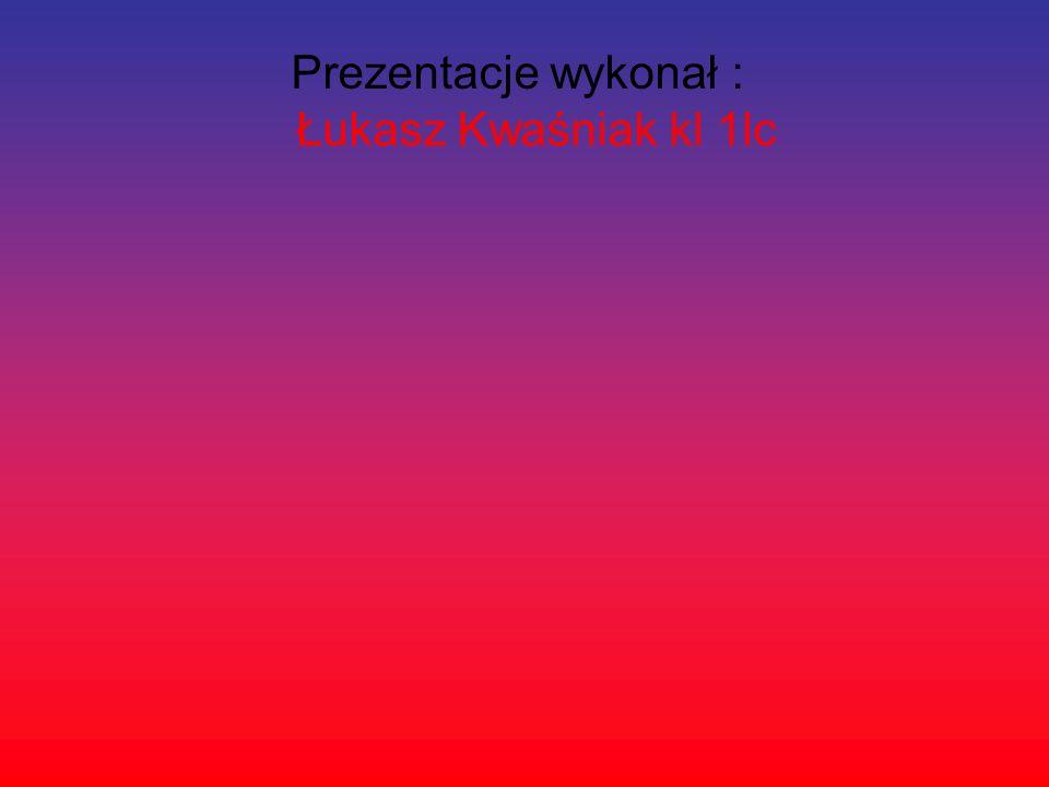 Prezentacje wykonał : Łukasz Kwaśniak kl 1lc
