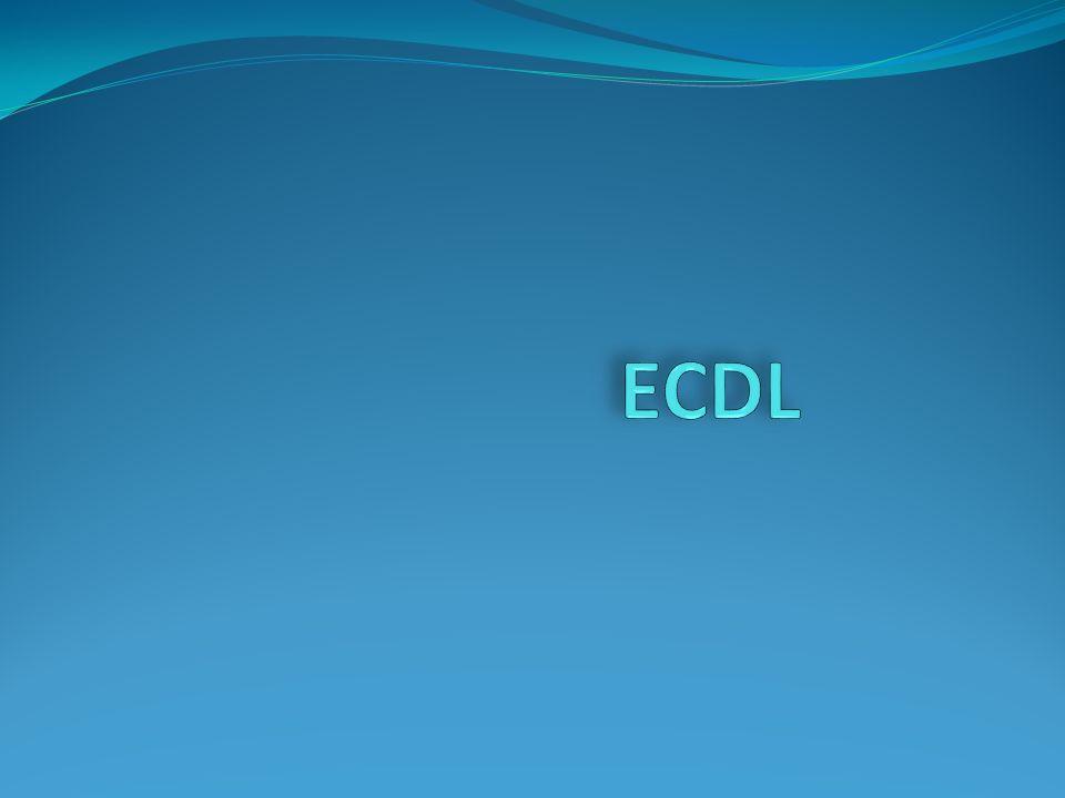 ECDL - European Computer Driving Licence czyli Europejski Certyfikat Umiejętności Komputerowych ECDL jest to jednolity dla całej Unii Europejskiej certyfikat zaświadczający o posiadaniu podstawowych umiejętności w zakresie korzystania z komputera osobistego.