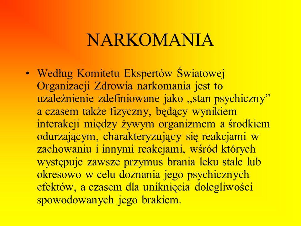 Ważne strony internetowe podejmujące problematykę HIV i AIDS oraz narkomani http://www.aids.gov.pl/ Krajowe centrum ds.