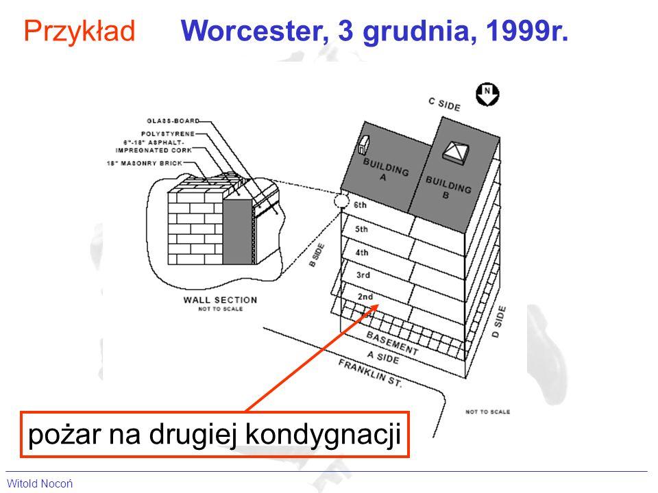 Witold Nocoń Przykład pożar na drugiej kondygnacji Worcester, 3 grudnia, 1999r.