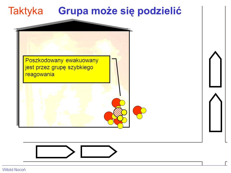 Grupa może się podzielićTaktyka Poszkodowany ewakuowany jest przez grupę szybkiego reagowania Witold Nocoń