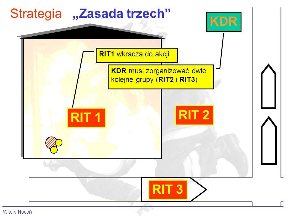 Witold Nocoń StrategiaZasada trzech RIT 1 RIT1 wkracza do akcji RIT 2 KDR KDR musi zorganizować dwie kolejne grupy (RIT2 i RIT3) RIT 3