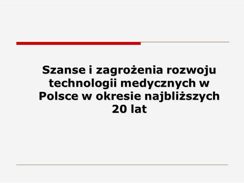 System monitorowania i scenariusze rozwoju technologii medycznych w Polsce FORESIGHT Projekt FORESIGHT