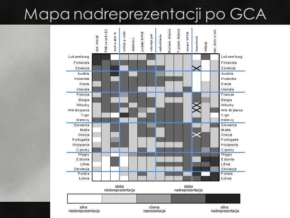 Mapa nadreprezentacji po GCA