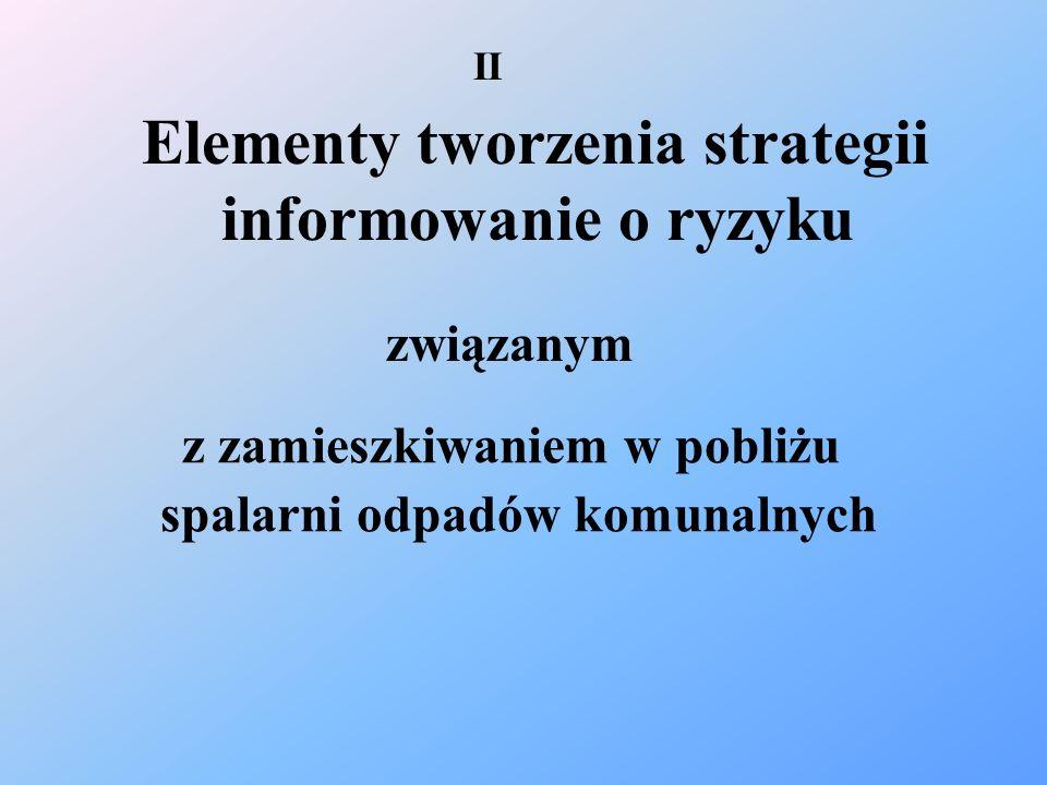 Elementy tworzenia strategii informowanie o ryzyku związanym z zamieszkiwaniem w pobliżu spalarni odpadów komunalnych II