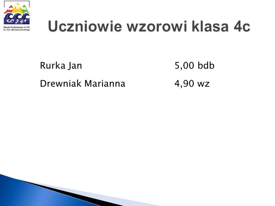 Rurka Jan 5,00 bdb Drewniak Marianna 4,90 wz